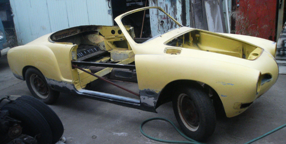 1971 Karmann Ghia Cabriolet Bodywork